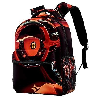 imobaby Kid Backpack Red Ferrari Casual Daypack Large Travel Bags School Bookbags for Girl Boys Women | Kids' Backpacks