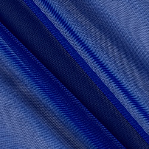 Ben Textiles 0448635 120in Sheer Voile Royal Fabric by The Yard