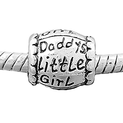 d24ca901f Image Unavailable. Image not available for. Color: Charm Buddy Daddy Daddys  Little Daughter Charm Fits Silver Pandora Style Bracelets