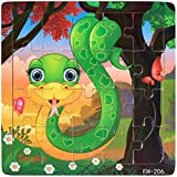 Facial Recognition Os X - DZT1968 22kinds Wooden Puzzle cartoon Educational Development Baby Training Toy Christmas Gift (F)