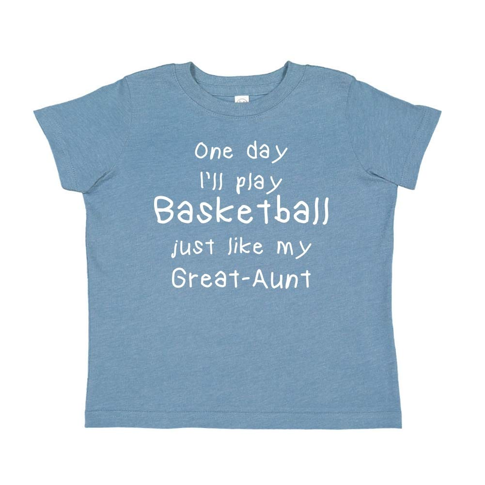 One Day Ill Play Basketball Just Like My Great-Aunt Toddler//Kids Short Sleeve T-Shirt