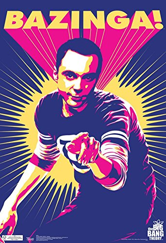 Big Bang Theory Sheldon Bazinga Television Poster 13 X 19In