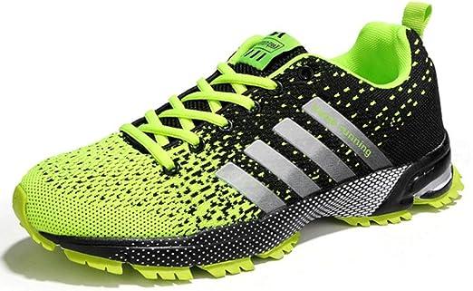 YWZQ Calzado de Running para Hombre, Zapatillas de Deporte de Gran tamaño Suelas amortiguadoras Suaves y cómodas Zapatillas de Malla Transpirable para Caminar Correr Ejercicio físico Diario,Green,45: Amazon.es: Hogar