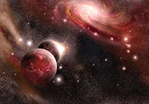 Purple and Pink Starry Space Wall Mural