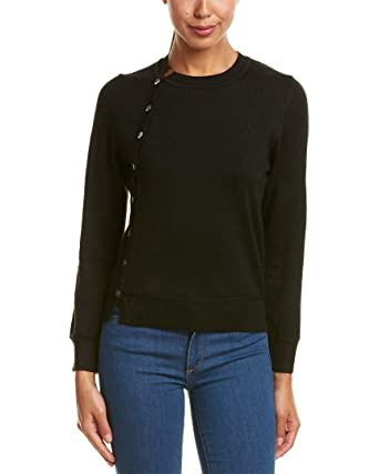 FEW MODA Womens Button-Up Sweater, L, Black at Amazon Women's ...