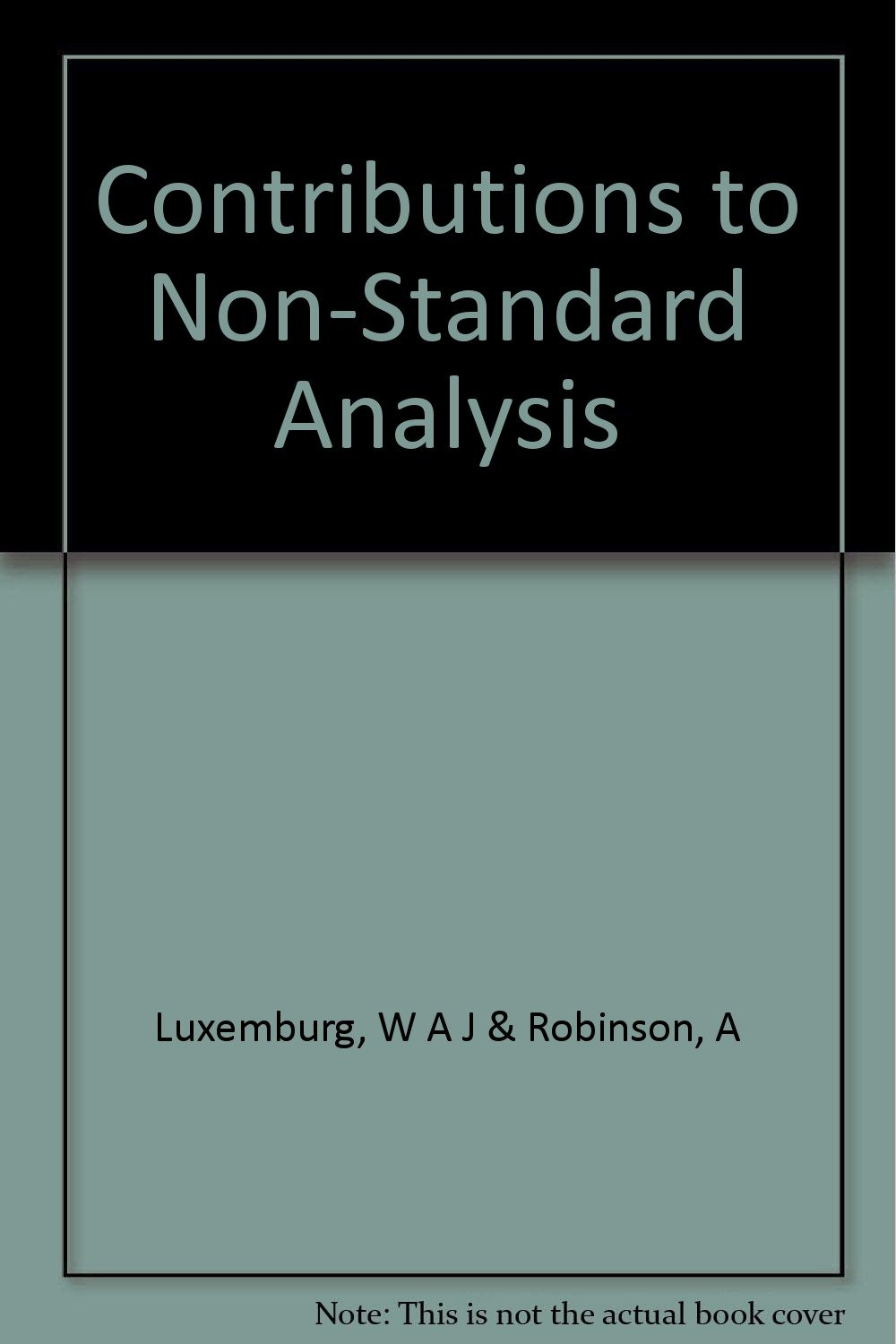 Contributions to Non-Standard Analysis