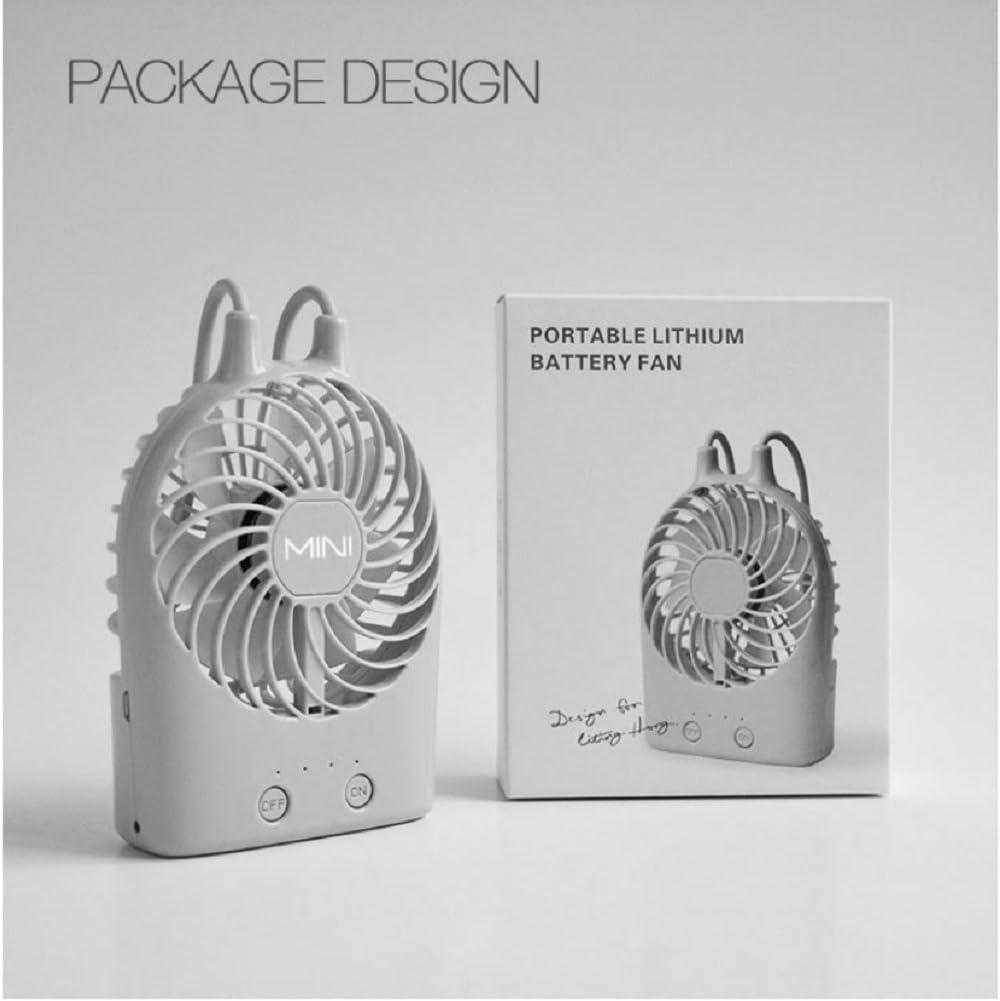 5x4x1inch DULPLAY Mini USB FAN,Personal FAN Sling mini handheld FAN,Led lighting,Student dormitory Cooling USB rechargeable Quiet Office home-J 13.4x9.4x3.5cm