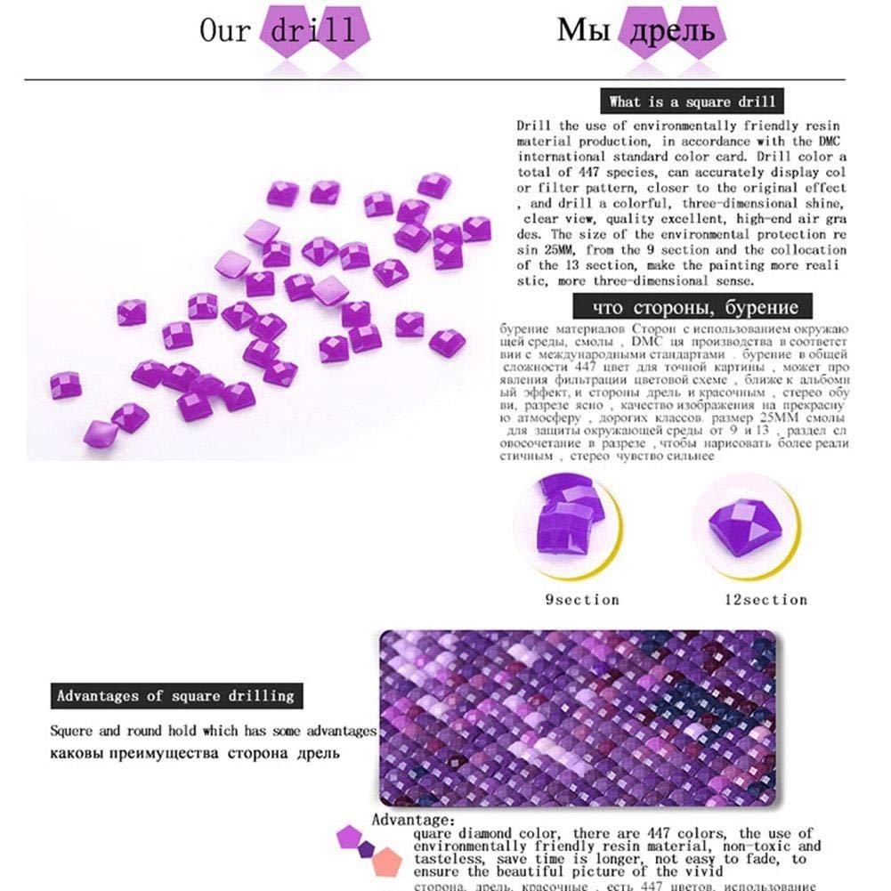 Anidalec Diamond Painting 4pcs 5D DIY Full Drill Train Cross Stitch Embroidery Kits