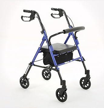 HJHY® ayudas para caminar, andador anciano andadores plegable ...