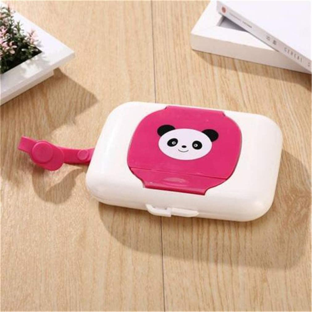 Baby Wipes Dispenser Box Travel Portable Wet Tissue Case Panda Pattern Plastic Wet Wipes Carry Container Useful and Practical