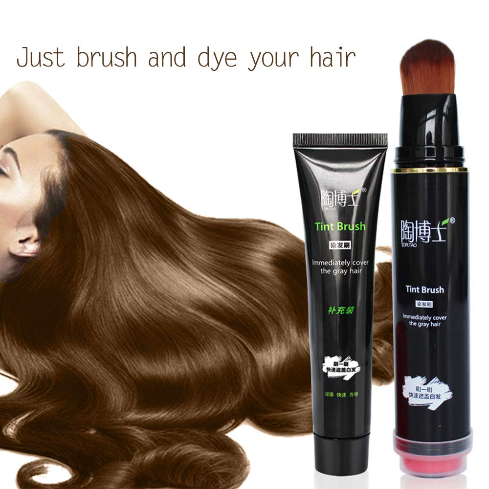 Anself Disposable Black Brown Personal DIY Fast-Dyeing Hair Dye Pen Natural Ammonia-Free Non-Toxic Hair Dye by Anself (Image #2)
