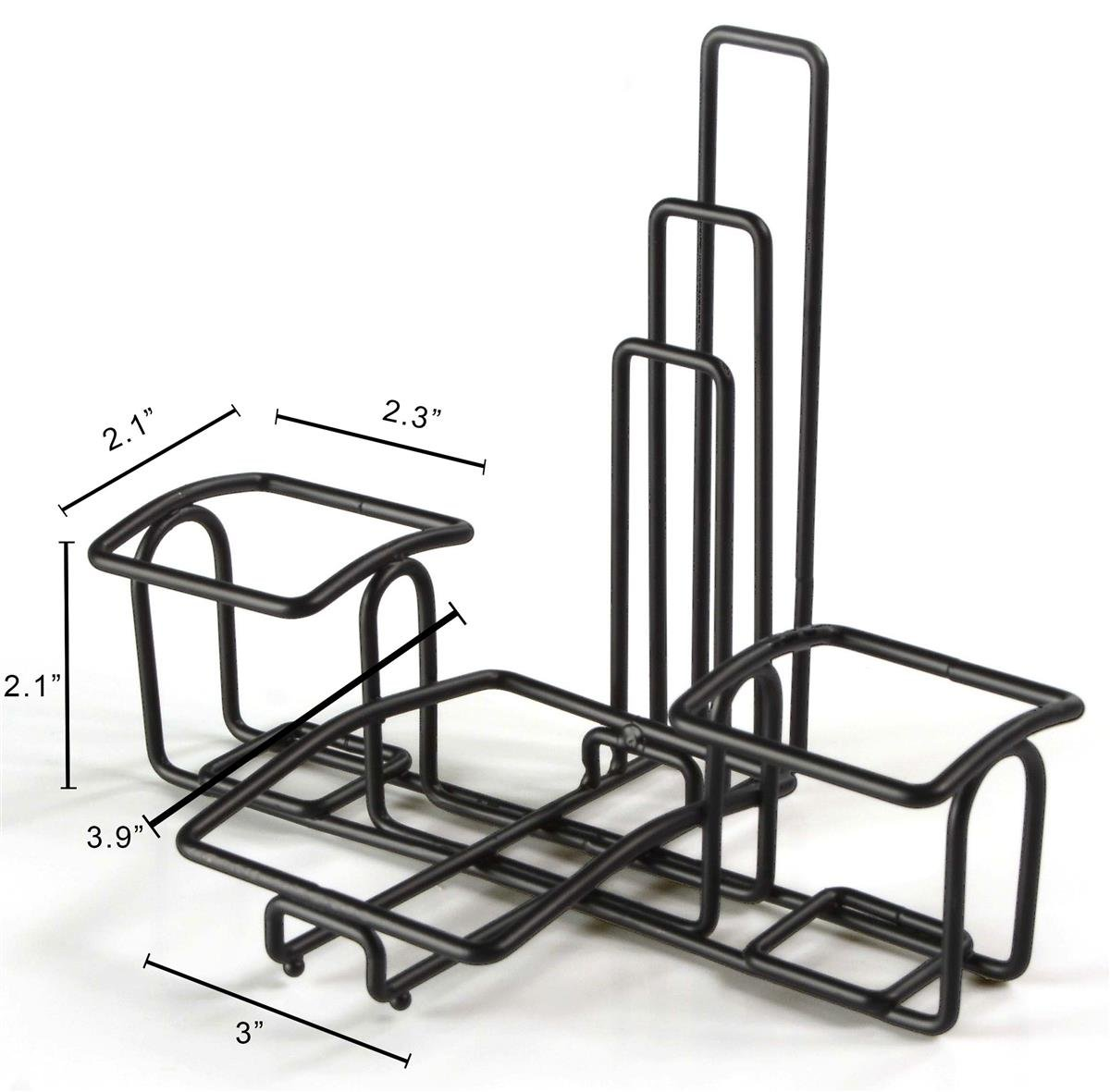 Condiment Caddy Stands with Menu Holders, Wire Organizers for Condiments, Steel (Black) - Set of 10 by Displays2go (Image #3)