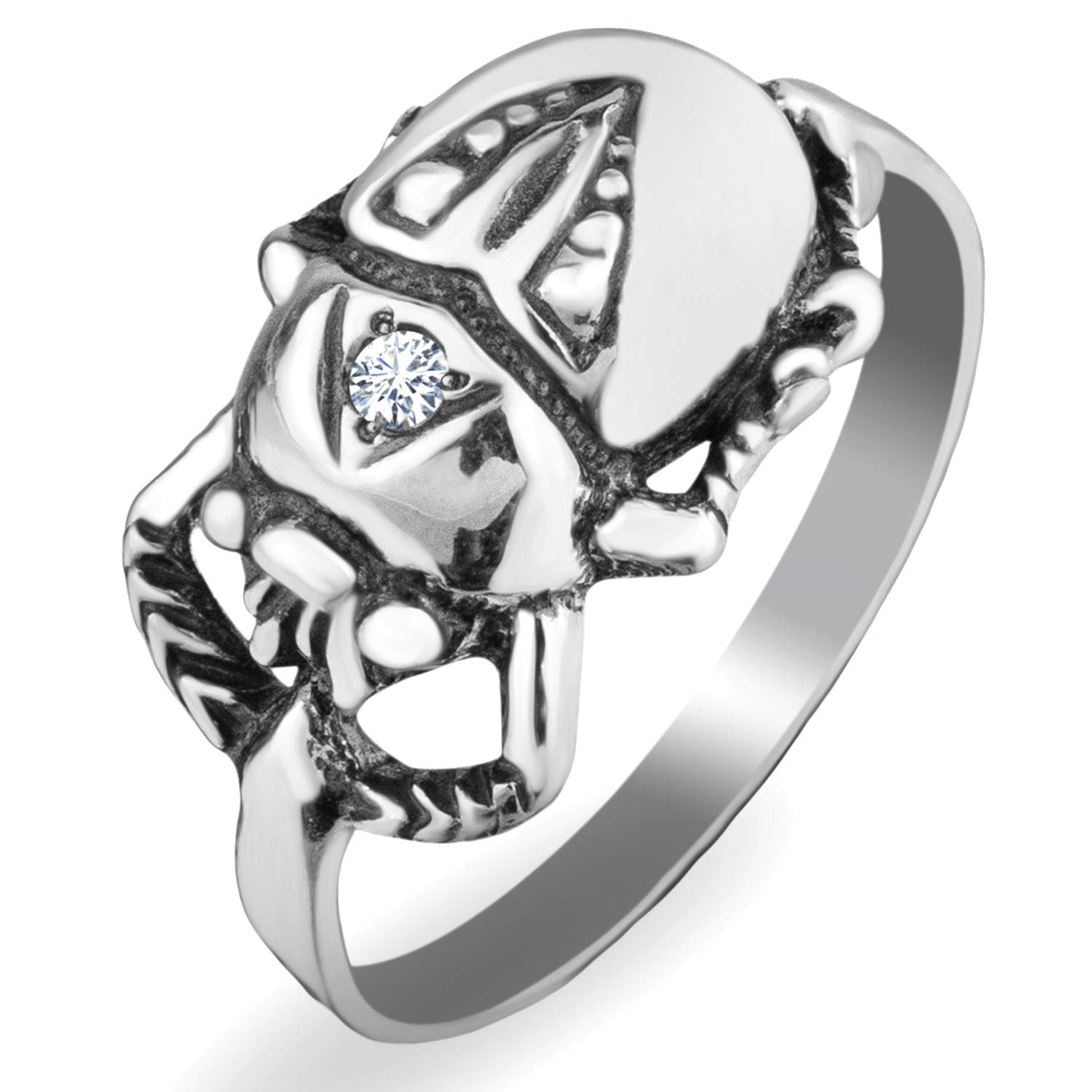 symbol of rebirth and power silver-plated Scarab Beetle