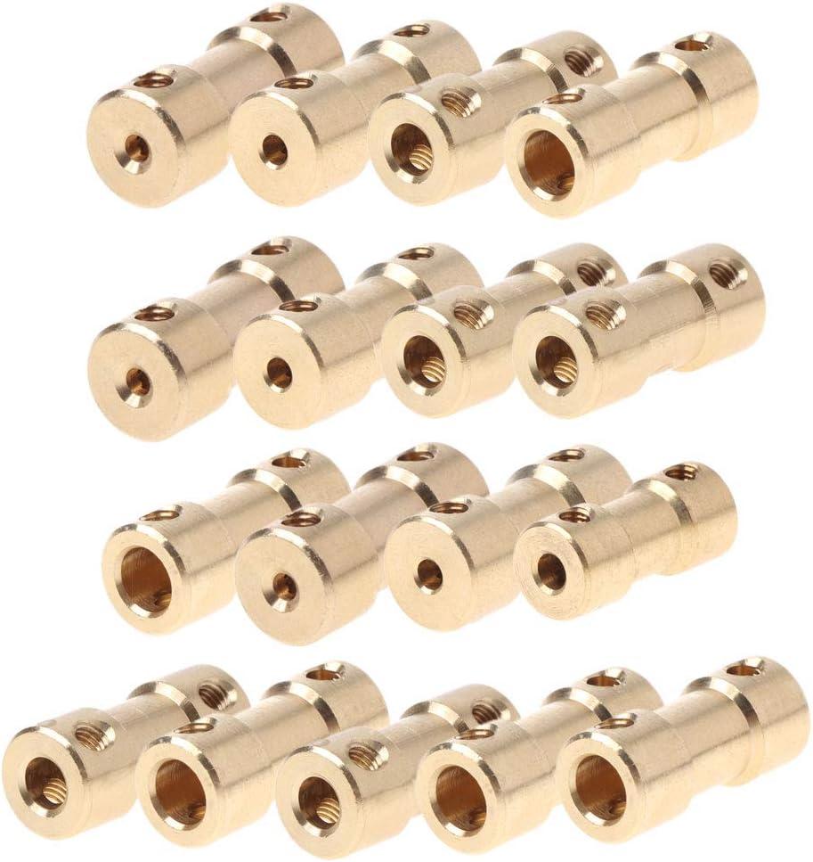 3.17-2mm Rtengtunn Adaptateur de Manchon de connecteur daccouplement daccouplement darbre de raccordement de Moteur en cuivre de 2-5mm US