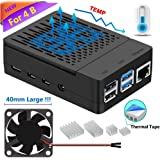 Raspberry Pi 4 Case, iUniker Raspberry Pi 4 Fan ABS Case with Cooling Fan, Raspberry Pi 4 Heatsink, Simple Removable Top Cover for Pi 4 Model B/ 4B