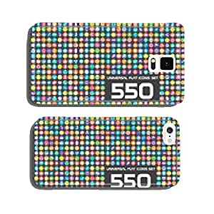 550 Universal flat color icons set cell phone cover case Samsung S6