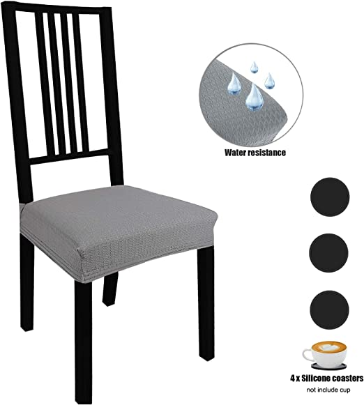 Stretch Dining Chair Slipcover Anti-dust Dining Chair Protector Cover Black