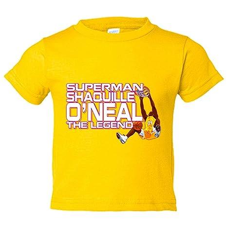 Camiseta niño Shaquille O Neal leyenda del baloncesto - Amarillo, 3-4 años