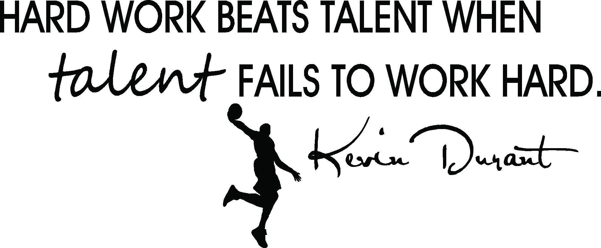 Hard Work Never Fails Quotes: Amazon.com: Hatop Basketball Dunk Sports Vinyl Decal Art