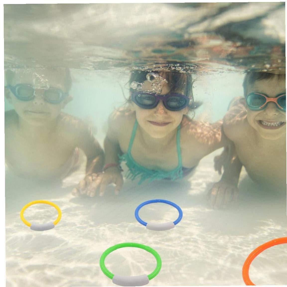 4pcs Set Dve Jouets pour Les Enfants Piscine Jouets Piscine Plong/ée Throwing Anneau Jeu /ét/é Plong/ée sous-Marine Sport Aquatique Jouet