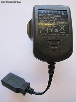 Alcatel - Cargador de viaje para Alcatel (5,0 V, 550 mAh ...