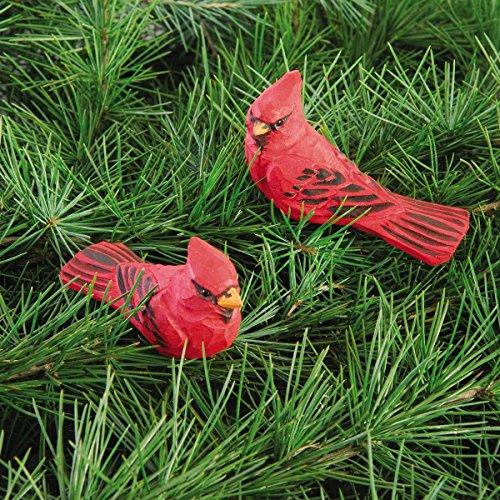 Wood Cardinal Red Bird Clip-on Christmas Ornament, Assort...