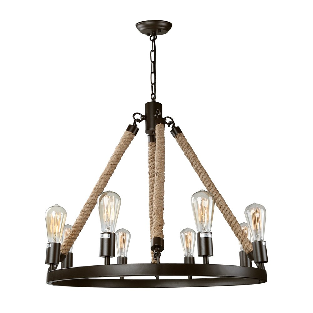Kitchen Island Lighting Rustic: LNC A02994 Vintage 8 Kitchen Island Rustic Pendant
