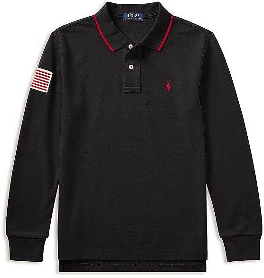 18-20 RALPH LAUREN Polo Boys Long-Sleeve Polo Size XL