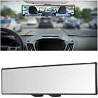 Yoolight Car Rearview Mirrors 3R Car Universal 12''Interior Clip On Panoramic Rear View Mirror Wide Angle Rear View Mirror (12 L x 2.8 H)