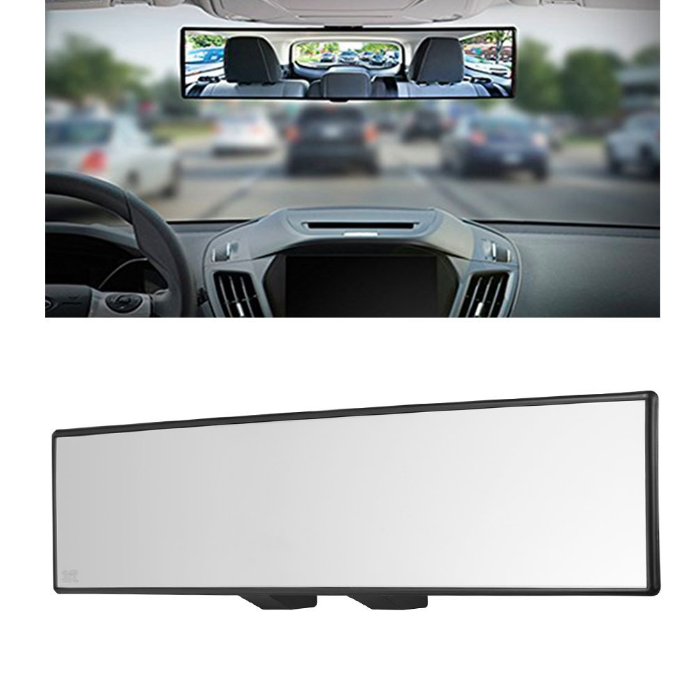 """Yoolight Car Rearview Mirrors, Car Universal 12'' Interior Clip On Panoramic Rear View Mirror Wide Angle Rear View Mirror (12"""" L x 2.8"""" H)"""