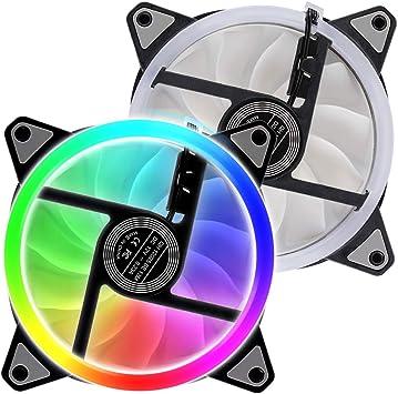 Ventilador de PC RGB, caja de ordenador de Kreema, para un enfriador de 120 mm: Amazon.es: Bricolaje y herramientas