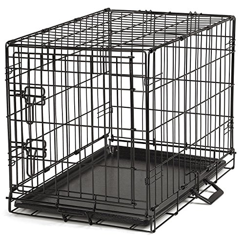 ProSelect Easy Dog Crates for Dogs and Pets - Black;  Small, Medium, Medium-Large, Large, Extra Large