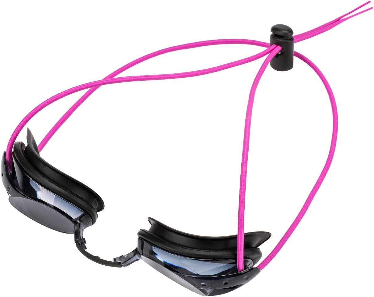 Oumers Swim Goggle Bungee Straps Women and Children Adjustable Replacement Swimming Goggle Straps with Speed Adjust Cord Lock Clamp Suit Racing Goggles Anti Fog Racing Kids Goggles for Men 4-Pack