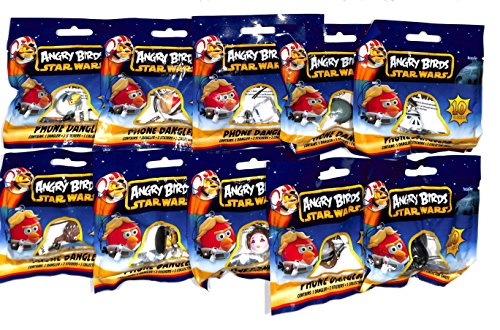 Angry Birds Star Wars Mobile Phone Dangler Brand New Set of 10 ()