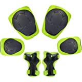 KUYOU Child Kids Protective Gear Set,Knee and Elbow Pads with Wrist Guards Toddler for Multi-Sports Cycling,Bike,Rollerblading, Skating, Volleyball