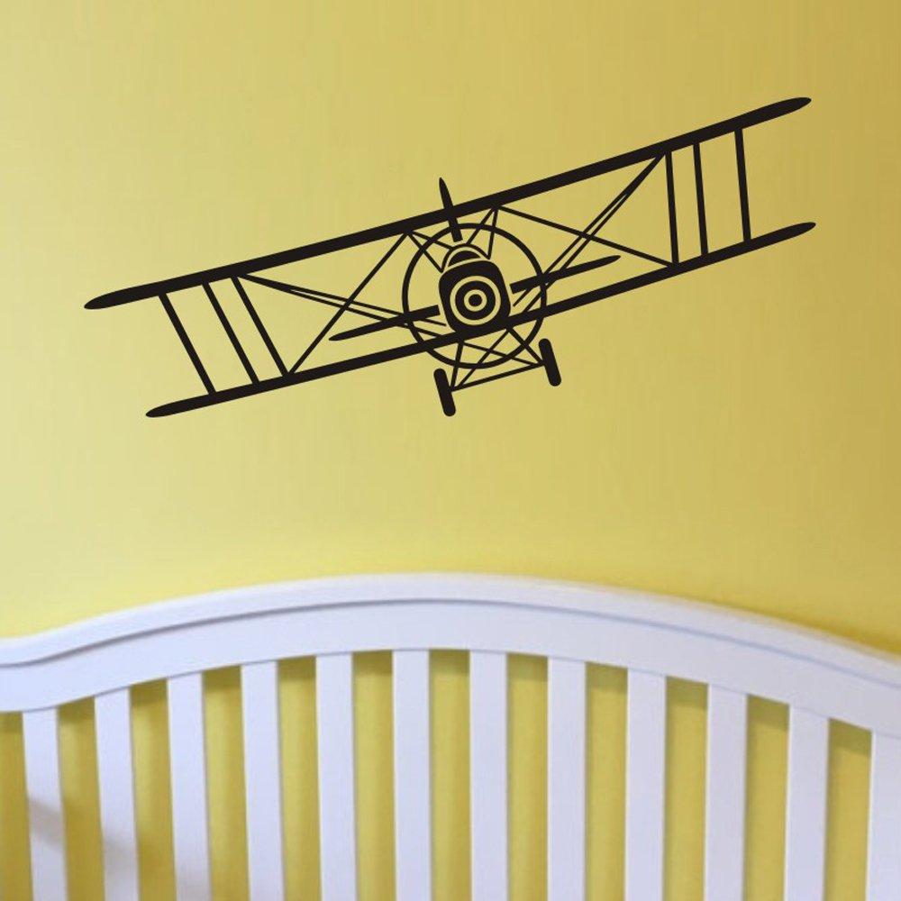 Amazon.com: Maribeatty Airplane Wall Decal Boy Room Decor Vinyl Art ...