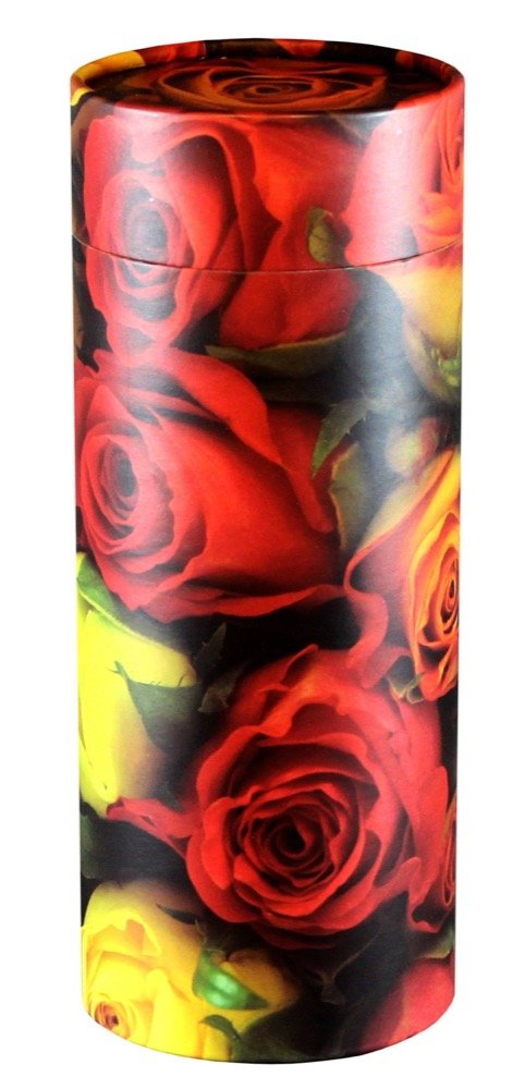 Cherished Urns Roses Design Eco-Friendly Scattering Tube - Large Adult