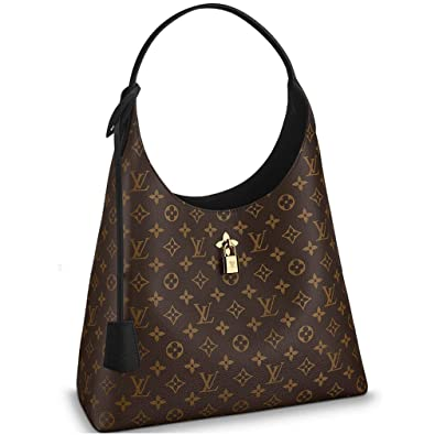 eb6a397debeb Amazon.com  Louis Vuitton Monogram Canvas Flower Hobo Shoulder Handbag Noir  Article  M43545 Made in France  Shoes