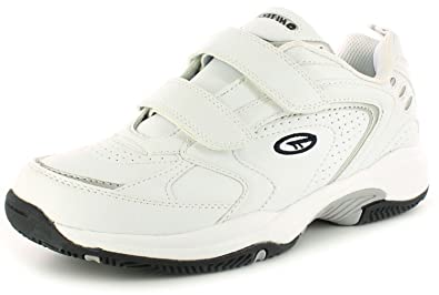 New Mens/Gents White Hi-Tec Blast Synthetic Lightweight Trainers - White -  UK