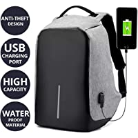 Cabriza OP4 Unisex Ultralight Anti Theft Multifunction Notebook Laptop Backpack/Travel Bags with USB Charging Port (Assorted Colour)