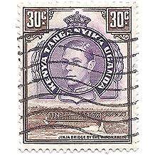 K.U.T. 1952 Postage Stamp Kenya Uganda Tanganyika 30 Cents KGVI Jinja Bridge Ripon Falls Scott #77
