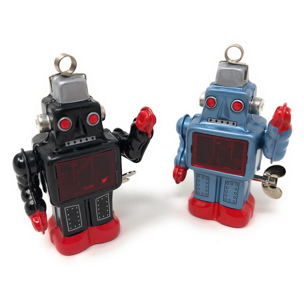 Burekiya Vintage Retro Tin Wind-up Toy - Two Sparkling Robot Set by Burekiya (Image #9)