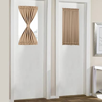 small door window curtains Amazon.com: Blackout Curtains for Doors with Small Windows Elegant  small door window curtains