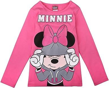 Disney Ni/ñas Minnie Mouse Camiseta Rosa