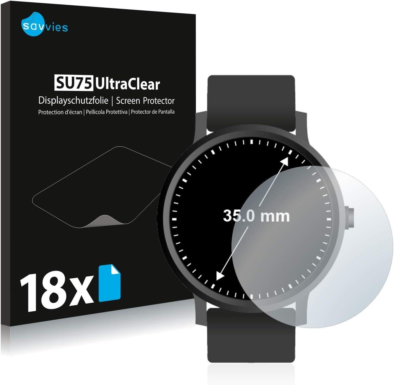 savvies Protector Pantalla Compatible con Relojes (Circular ...