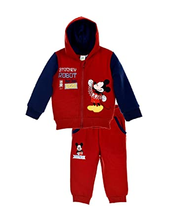 5ca7dfc4f048d Ensemble Jogging bébé garçon Mickey Marine et Rouge de 6 à 24mois - Rouge  Marine