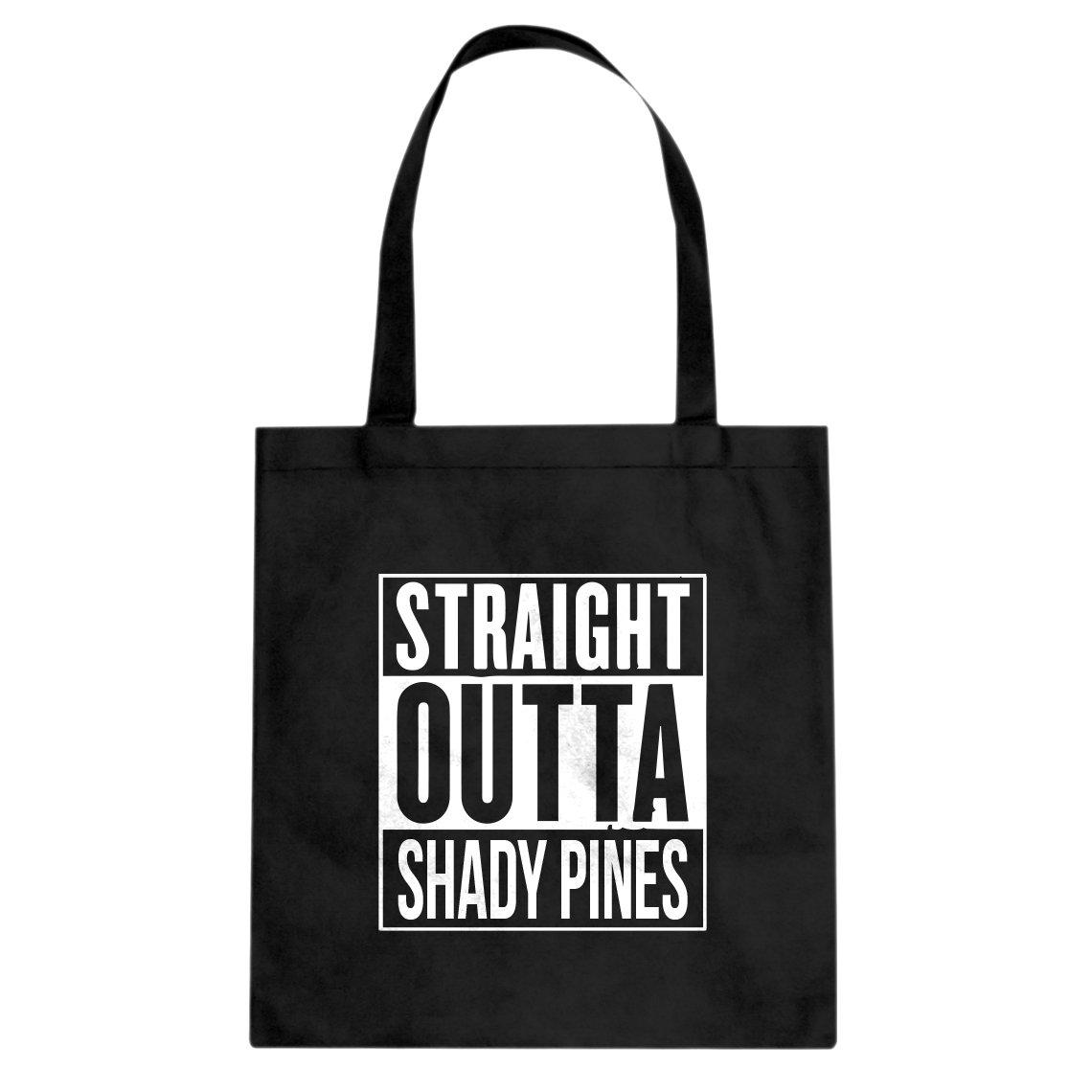 Indica Plateau Straight Outta Shady Pinesキャンバストートバッグ L ブラック B073TP75F8