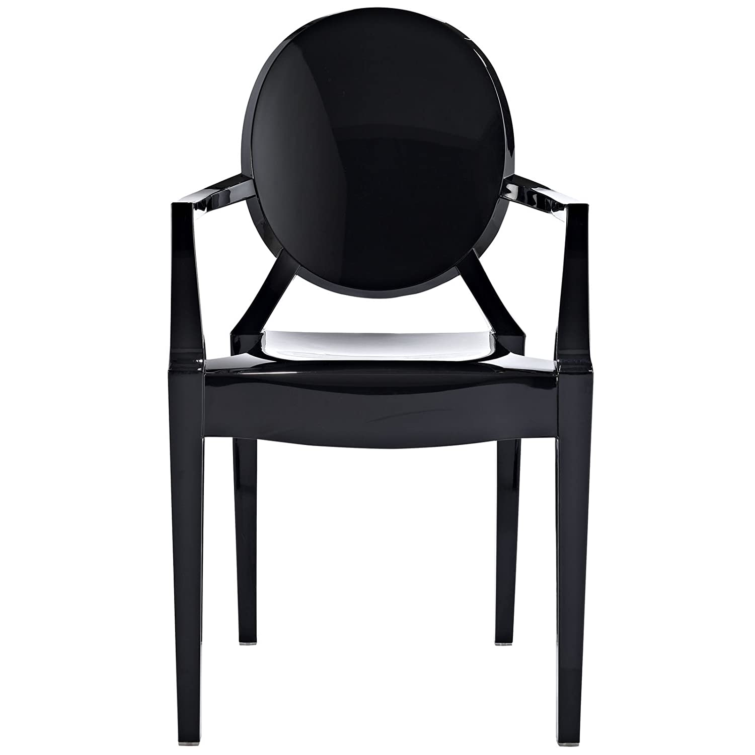 Amazon Modway Casper Dining Armchair in Black Chairs