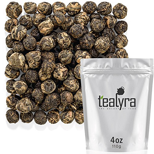 Tealyra - Lychee Black Dragon Pearls - Exotic Sweet Black Lo