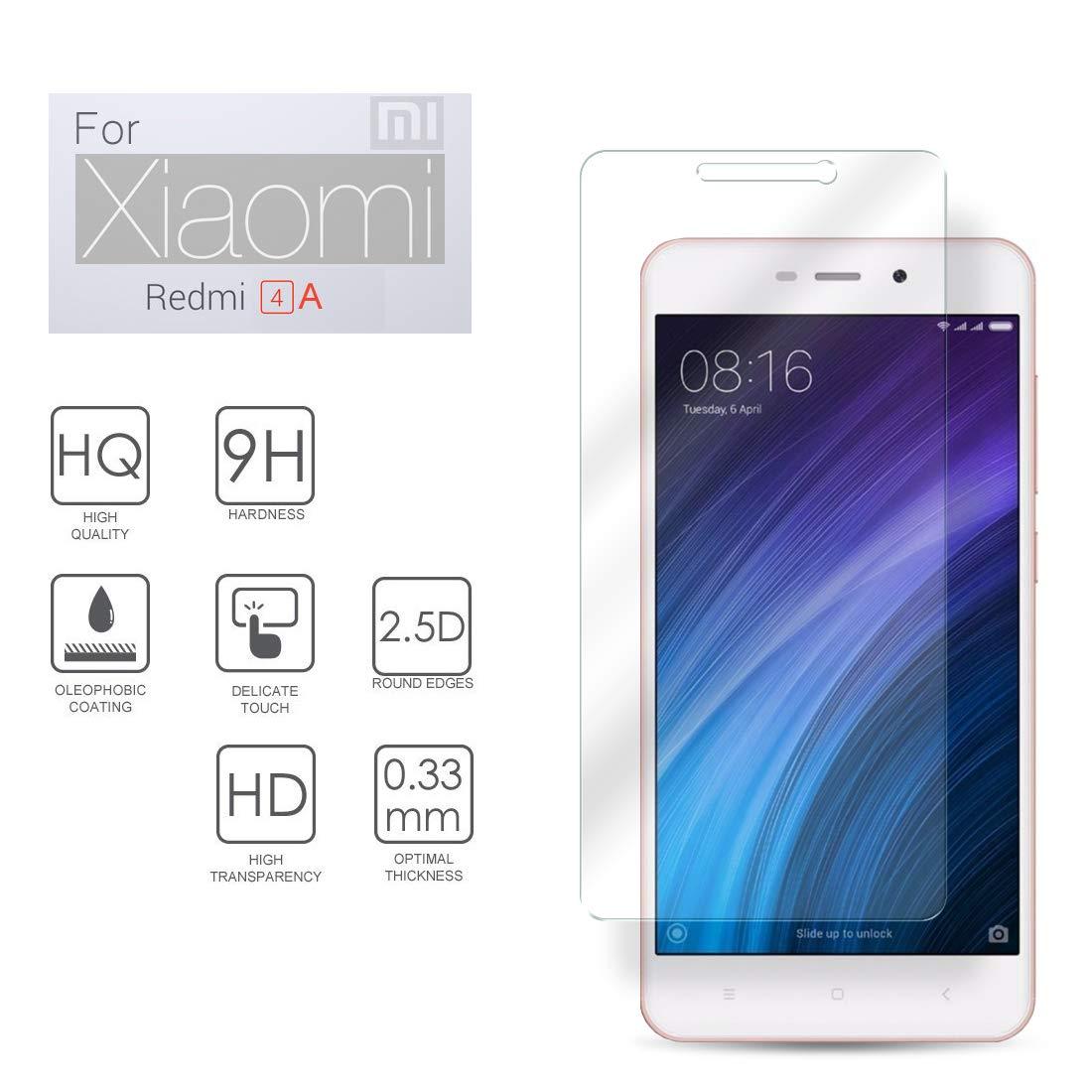 Xiaomi Redmi 4a Protector de Pantalla Ultra Delgado Cristal ...
